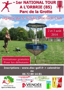 affiche National Tour  disc golf  17042014
