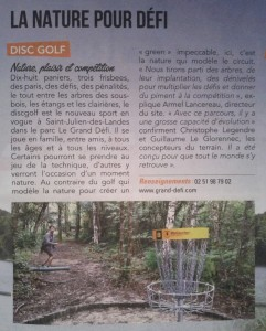 article Journal de la Vendée 082014